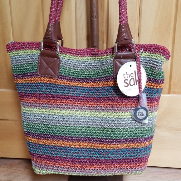 30fc1d053d64 The Sak Gypsy Stripe Cambria Tote Shoulder Bag